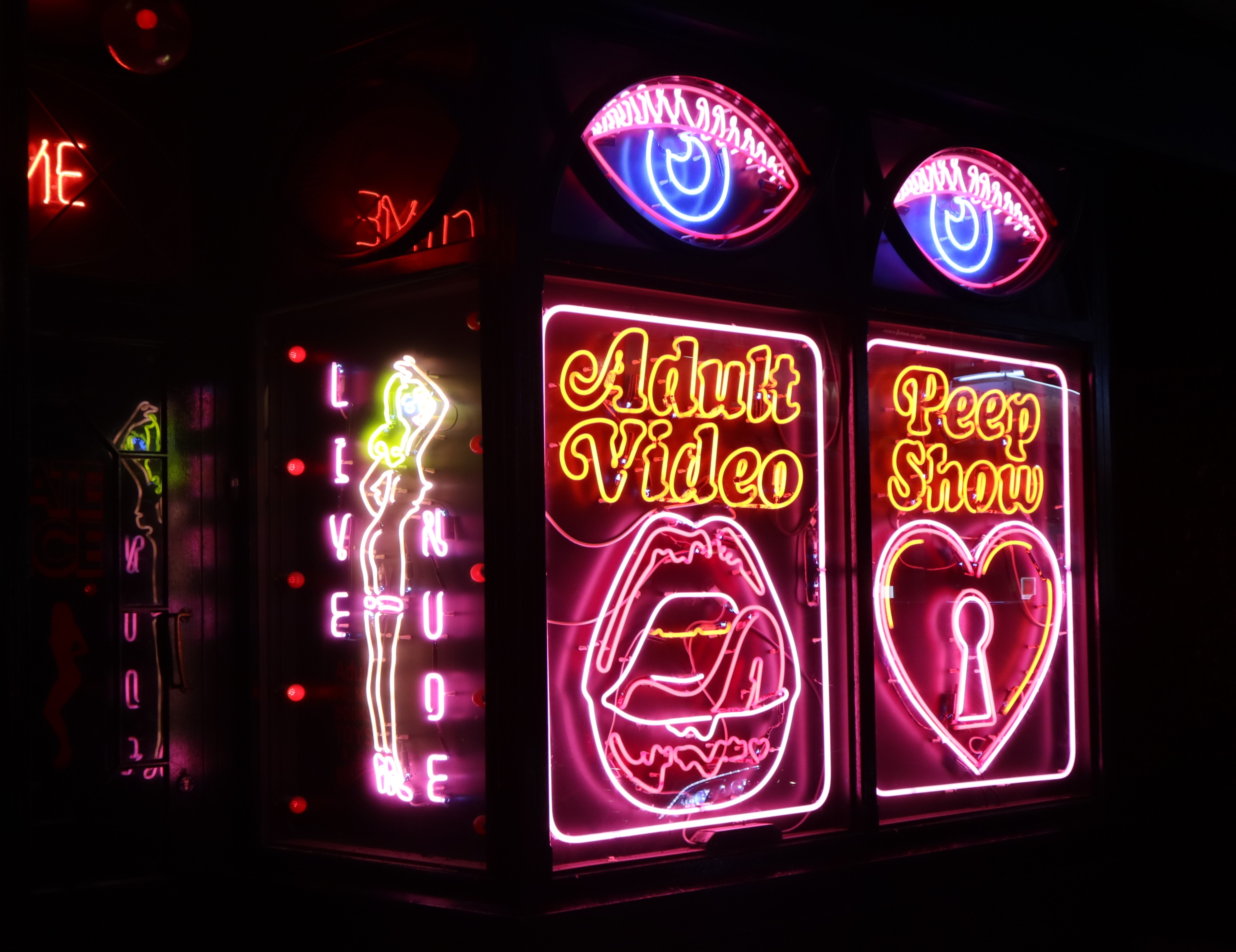 Adult Video Neo Sign at Soho London