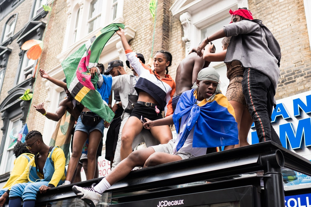Snaps taken from the annual Notting Hill Carnival, celebrating Black-British culture and history through dance, food and music.